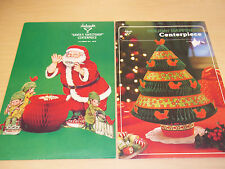 2 Vintage Ambassador Hallmark Holiday Honeycomb Centerpeices