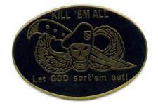 Kill ém all - Let god sort  Emblem 6,5 x 4,5cm selbstklebend  USMC US Marines