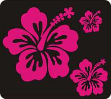 40 CERISE HIBISCUS FLOWER STICKERS CAR WALL BEDROOM WINDOWS DECALS GRAPHIC SURF