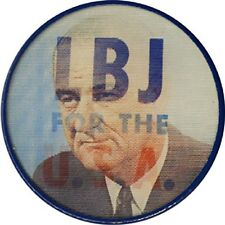 1964 Lyndon Johnson LBJ FOR THE USA Flasher Button (4789)
