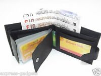 MEN'S LUXURY SOFT BLACK REAL LEATHER WALLET BUSINESS CREDIT CARD HOLDER PURSE 64