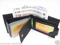 MEN'S RFID LUXURY SOFT BLACK REAL LEATHER WALLET CREDIT CARD HOLDER PURSE 64