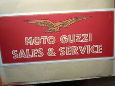 MOTO GUZZI SALES & SERVICE large Workshop Garage Sign Sticker LeMans Califronia