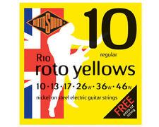 Cordes jaunes pour guitare et basse