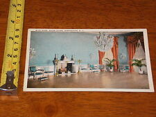 Postcard Vintage Blue Room White House Washington Dc #4