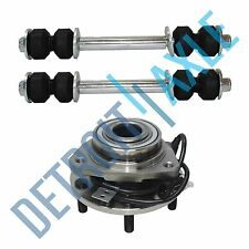 3 pc Kit: New Front Wheel Hub Bearing and Assembly and 2 New Sway Bar Links GMC