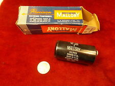 Nos/Nib Old Vtg Mallory Precision Electronics Hc-1520A Capacitor, Mint Condition