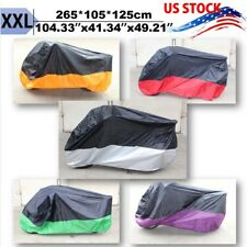 XXL Waterproof Motorcycle Cover For Harley Wide Super Glide Dyna Fat Street Bob