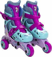 PlayWheels Disney Frozen Convertible 2-in-1 Kids Skates, Size 6-9 New!