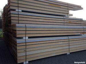 105 mm Sandwichplatten Isopaneele Dachpaneele Dämmplatten - 2. Wahl
