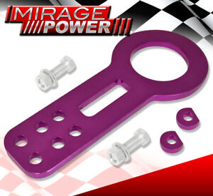 Racing Anodized Purple JDM Front Tow Hook Chassis For Acura Honda Lexus Toyota