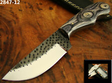 FARRIER'S RASP FILE CARBON STEEL OUTDOOR, CAMPING HUNTING TANTO KNIFE (2847-12