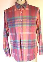 J. Crew Mens Large Long Sleeve Button-Down  Multi-Color Plaid Shirt