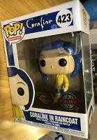 POP FUNKO GLITTER DIAMOND CORALINE IN RAINCOAT EXCLUSIVE FIGURE 423