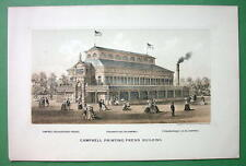 PHILADELPHIA EXPOSITION of 1876 Litho Print - Campbell Printing Press Building