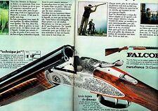 PUBLICITE ADVERTISING 037  1972  Manufrance  (2p)  fusil de chasse Falcor
