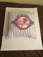 """New York Yankees 15"""" Throw Pillow 100th Anniversary 1903-2003 (RARE)"""