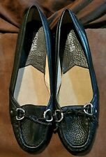 Michael Kors Black Leather Loafers Size 8 1/2