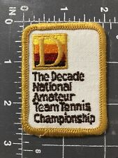 Vintage The Decade National Amateur Team Tennis Championship Patch USTA Junior