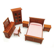 Dollhouse Classical Bedroom Set 1:12 Scale Miniature Furniture Model