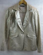 Jo Borkett Size 34 Gold Linen Formal Trouser Suit