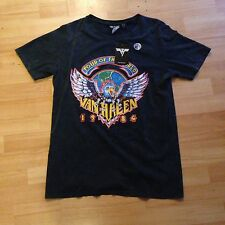 New Van Halen World Tour 1984 Rock Band Summer Tshirt Top, Primark Size 14