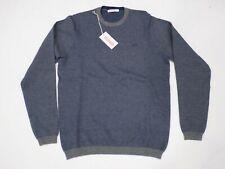 maglia giro collo SUN68 uomo art.k28131 colore azzurro 50% lana 50% cotone