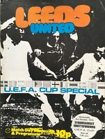 LEEDS UNITED V STROMSGODSET UEFA CUP FOOTBALL PROGRAMME 1973