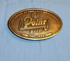 New listing Point Special Beer Stevens Brewery Brass Belt Buckle Vintage 125th anniversary