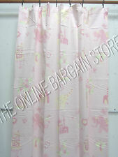 1 Pottery Barn Kids Layla Baby Spring Curtains Drapes Panels 50x84 PINK Elephant