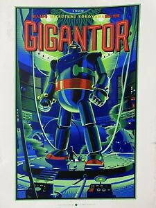 Gigantor Variant Limited Edition Poster Print By Laurent Durieux SOLD OUT X150