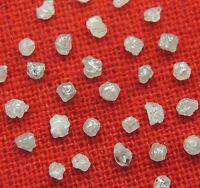 Natural Loose Diamond Rough White Grey I3 Clarity 1.30 to 2.00MM 1.0 ct Lot J30