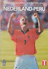 Programme / Programma Holland v Peru 10-10-1998 friendly
