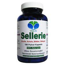 Sellerie 180 Pulver Kapseln Ohne Zusatzstoffe Kein Extrakt Natur Pur. 26319