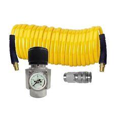 CO2 Cylinder Regulator Recoil Air Hose and Coupler Kit
