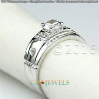 Genuine 1.97CT Off White Yellow Moissanite Ring Wedding Ring 925 Silver Ring A07