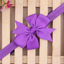 Dark Purple Lovely Kids Girls Toddler Infant Flower Headband Hair Band Headwear