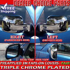 2002 2003 2004 2005 2006 2007 Jeep Liberty Triple Chrome Mirror Covers Overlays
