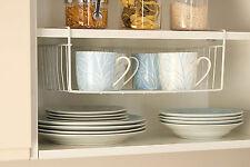Under-shelf storage basket Kitchen space saver organiser Cutlery Dish Glass Cup