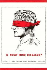 Is Your Mind Diseased Sex Maniac Social Hygiene Psychiatry Modern Postcard