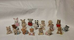 Calico Critters Sylvanian Families mixed lot of 20 Babies