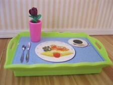 Barbie Living in Style Bedroom Furniture Dinner Breakfast Food Tray Vase Flowers