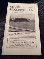St Mirren v Airdrie 1961/62 Programme