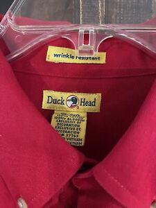 Men's Duck Head long sleeve button down size XL. NEW !!  Red.   B3