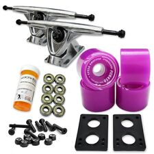 HD7 Longboard Combo set - Polished trucks (Solid Purple)
