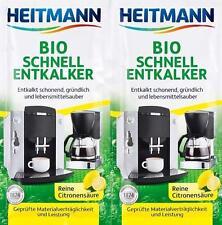 10x25g Heitmann Bio Schnell- Entkalker reine Citronensäure lebensmittelecht