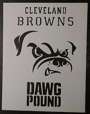 "Cleveland Browns Dog Dawg Pound 11"" x 8.5"" Custom Stencil FAST FREE SHIPPING"