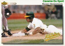 155 RICKEY HENDERSON OAKLAND ATHLETICS  BASEBALL CARD UPPER DECK 1992