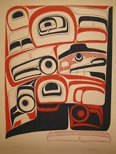 RARE Northwest Coast Indian Art by Duane Pasco Signed, Numbered Print Silkscreen