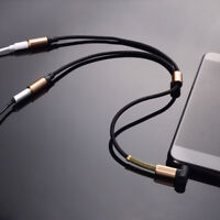 3.5 mm Jack Aux Audio Cable 1 Male to 2 Female Headphone Extension Cable Lead